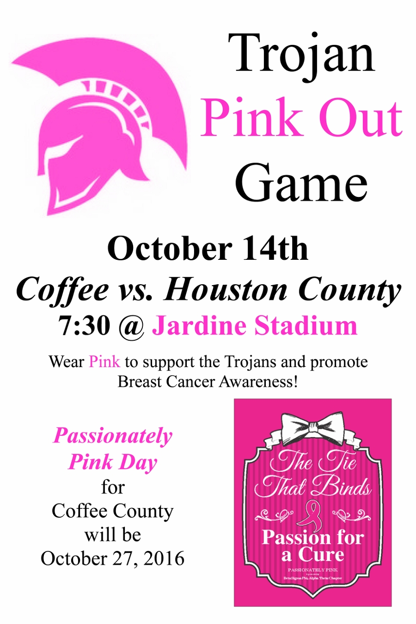 pink out this friday s trojan home game