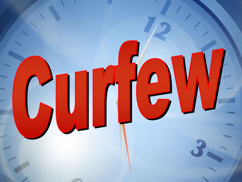Curfew includes county and all municipalities, will last from 8 p.m. to 9:30 a.m.