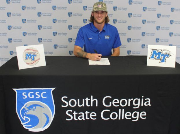 SGSC's Cole Escher from Green Cove Springs, Fla., committed to Middle Tennessee State University and received a Phi Theta Kappa Transfer Scholarship when he attends in the fall to play baseball.