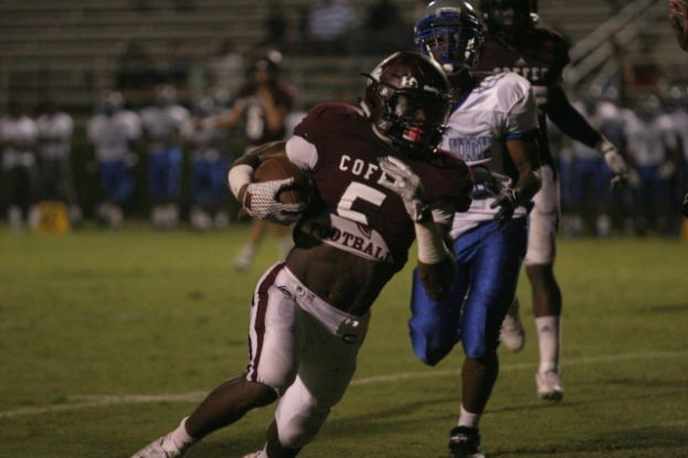 Demetrius Davis scored two more touchdowns Friday night as the Trojans defeated the Savannah Blue Jackets 38-0 at Jardine Stadium. Davis opened the game with an 84-yard touchdown run.