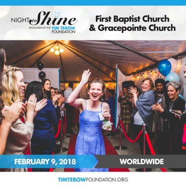 First Baptist and GracePointe Church to host Night to Shine Prom for people with special needs