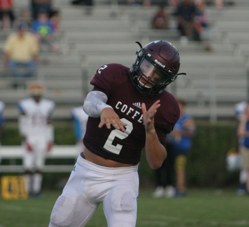 Coffee quarterback Wade Sumner threw three touchdown passes and ran for another score Friday against Tift. However, the Blue Devils still managed to escape with a 33-31 win after a 44-yard field goal with nine seconds left.