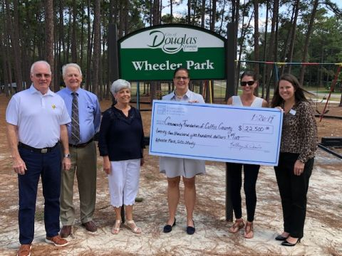Wheeler Park revitalization plan released, Community Foundation receives first check for park project