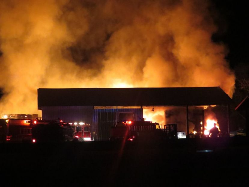 Day Lumber Company suffered serious damage but won't shut down as a result of a large fire Friday afternoon.