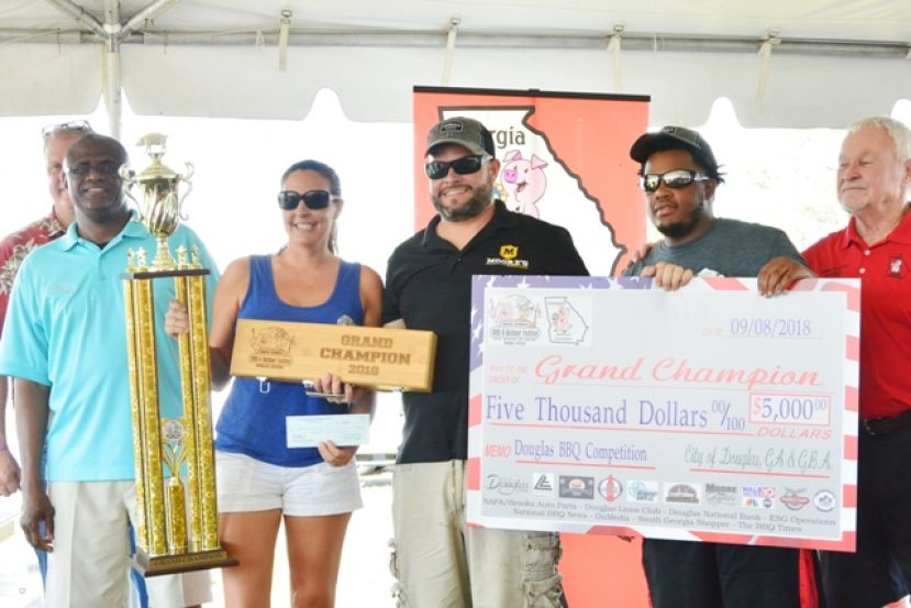 Holy Smokes BBQ won the grand prize at the BBQ festival last weekend.