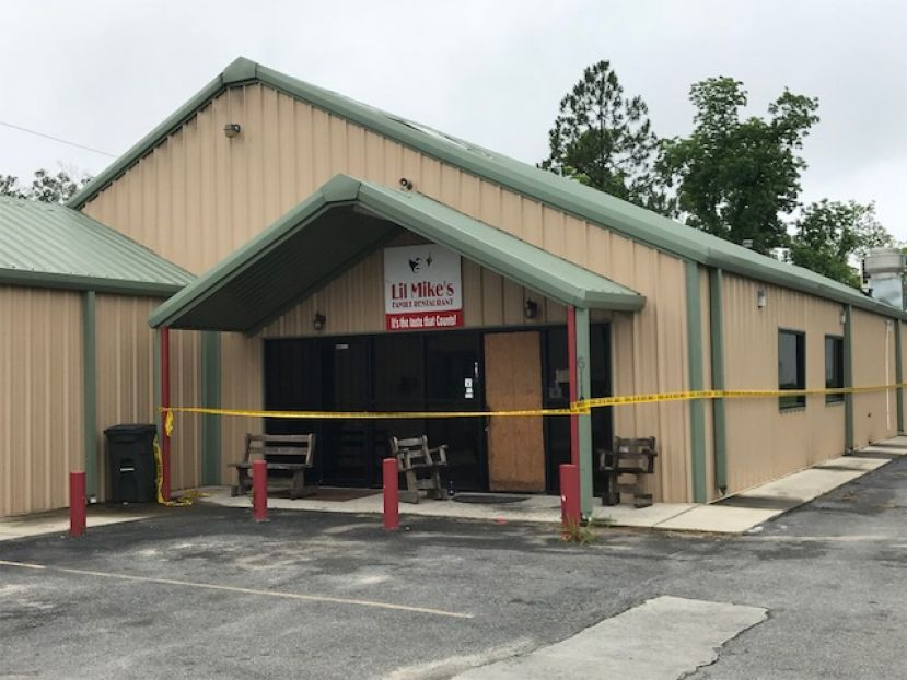 Lil Mike's Restaurant, seen above, caught fire Tuesday morning. Officials are investigating the blaze as an arson.