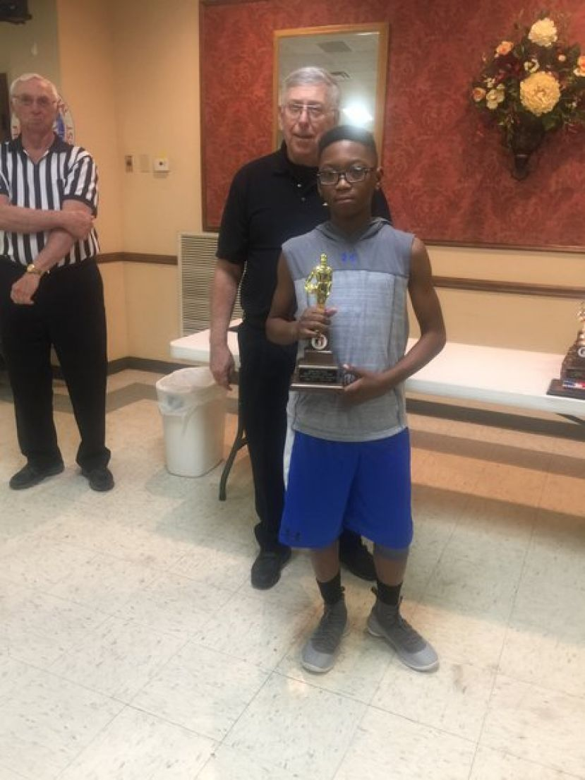 Jeremiah Jones wins state champion title in the Elks Lodge Free Throw competition