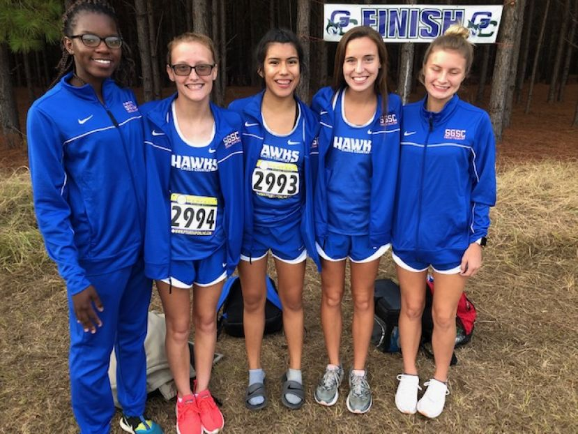 From left: Shanya Washington, Brooke Reese, Lileni Morales, Kalli Wilkes, and Kaitlyn Thigpen