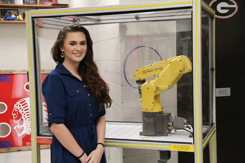 High School Senior Lauren Freeman is back in school now and working with her TSA fellow members on projects like robotics, but this summer her internship brought a whole new level of experience and skills her way.