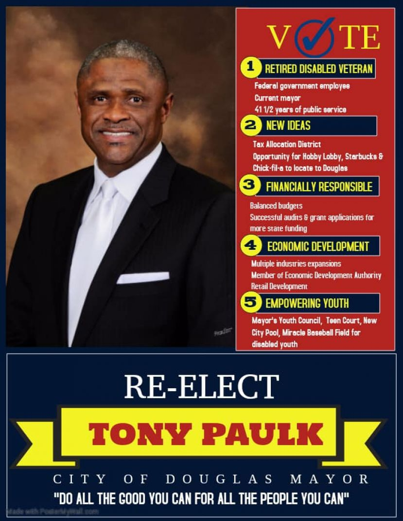 Mayor Paulk announces re-election bid