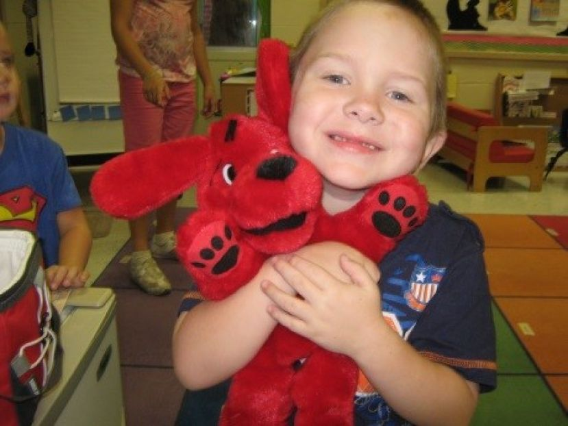 Clifford the Big Red Dog helps Pre-K to learn at West Green Elementary School