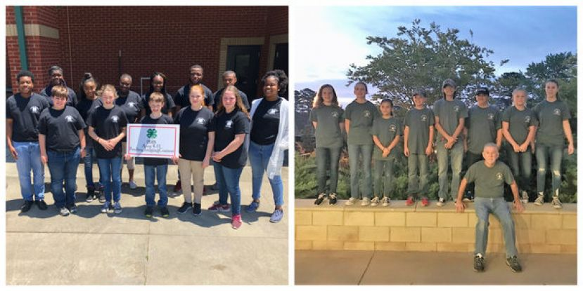(L-R): Coffee County 4-H members competed in the Area Poultry Judging Contest in Tifton on May 1, BB team members compete in State 4-H BB Match at Rock Eagle.