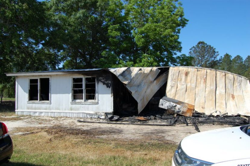 Earlier this month, this mobile home caught fire. Officials have determined the cause of the fire to be arson and are looking for information about this incident.