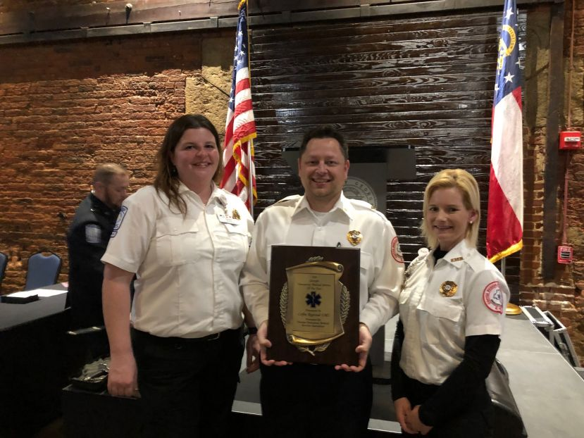 CRMC EMS Director Andy Smith is pictured along with Presika Clements and  Vicki Becotte.