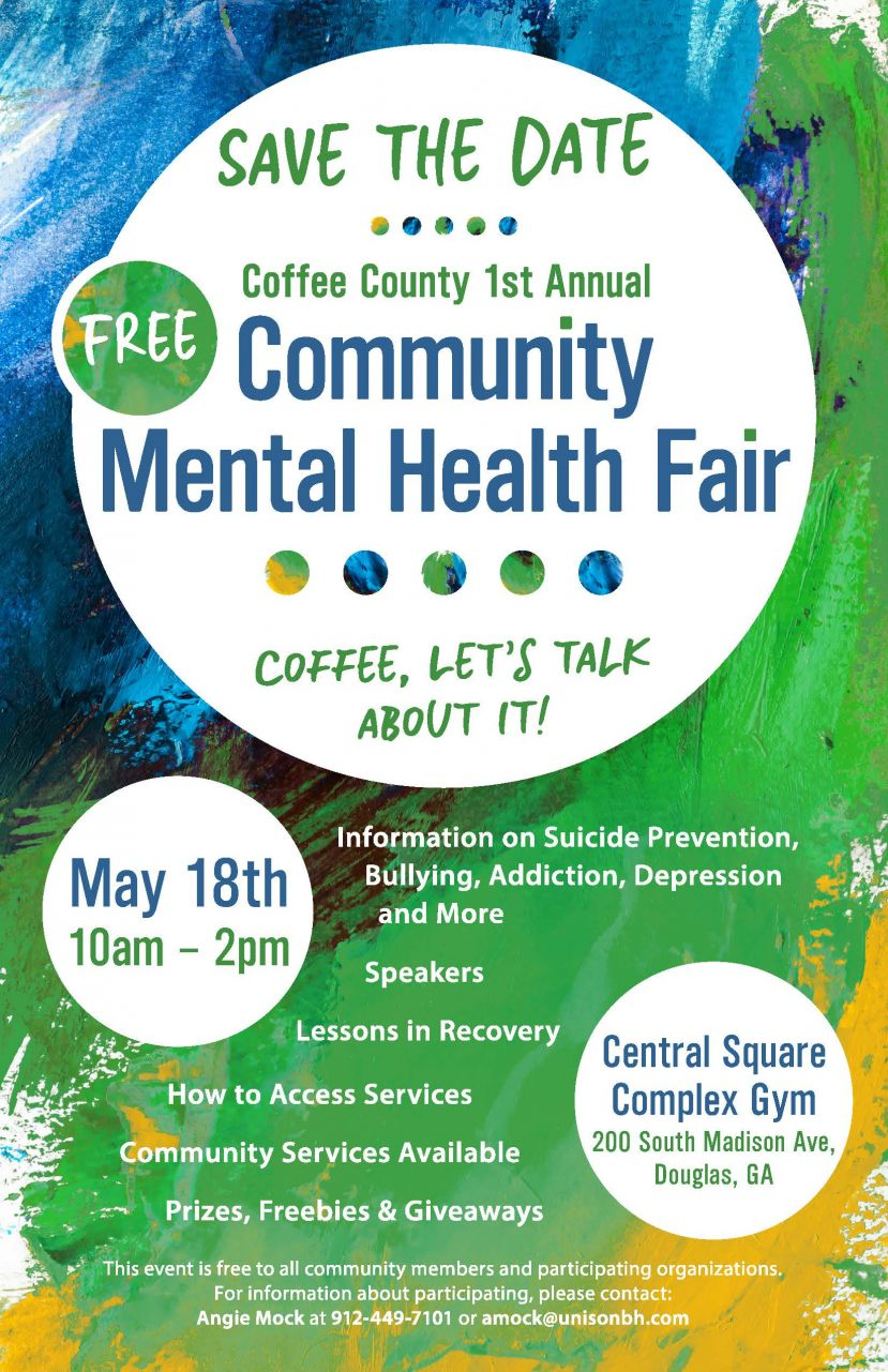 Community mental health fair scheduled for May 18