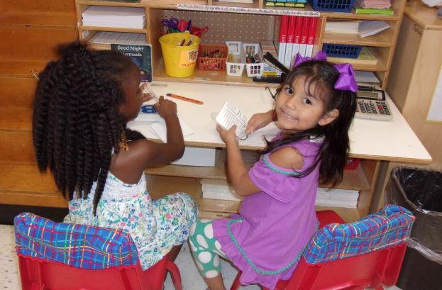 Eastside Pre-K students learn about centers