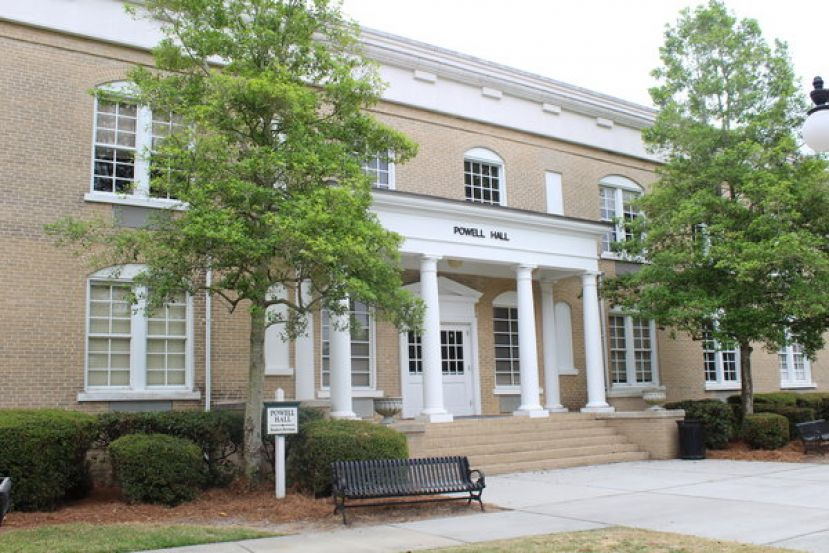 Powell Hall is one of three legacy buildings on the Douglas Campus and built in 1906 at the founding of South Georgia College.