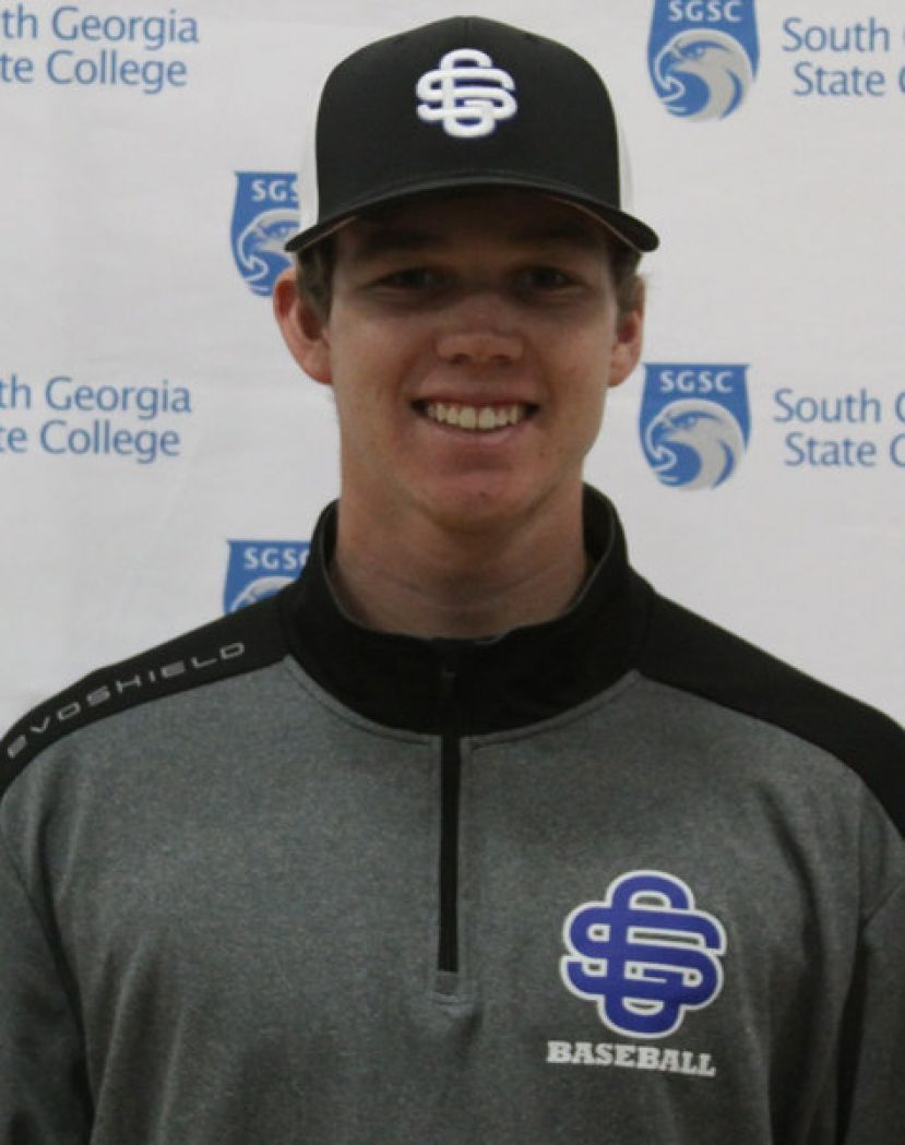 SGSC's Christian Harkey from St. Augustine, Fla., hit a solo homerun during Saturday's game to do his part in the victory.