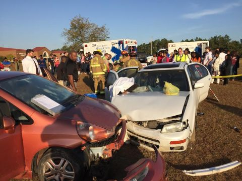 CHS mock wreck drives home anti-drinking and driving message