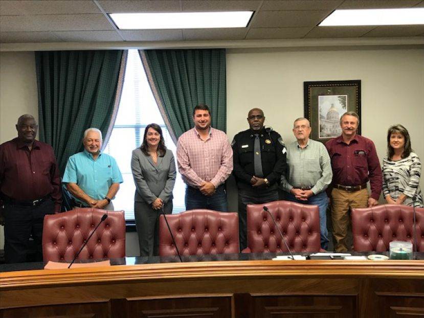 At the most recent county commission meeting, the county recognized sheriff's deputy Ben Munford (fourth from right) for being named the Officer of the Year for 2018.