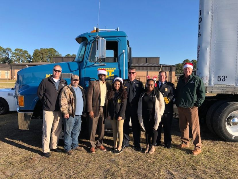 The City of Douglas took a semi-truck full of gifts to Savannah for the Mayor's Christmas Motorcade. It was the largest number of gifts ever sent as a part of the motorcade.