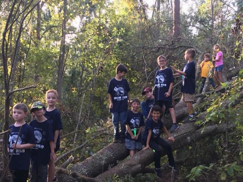 Cub Scout Pack 859 participated in a Cub Family Weekend at Camp Patten