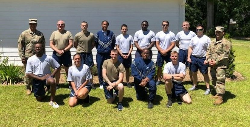 This 15-person Georgia National Guard team, led by SMSgt Genell Wright, cleaned two retirement homes in Douglas Monday.