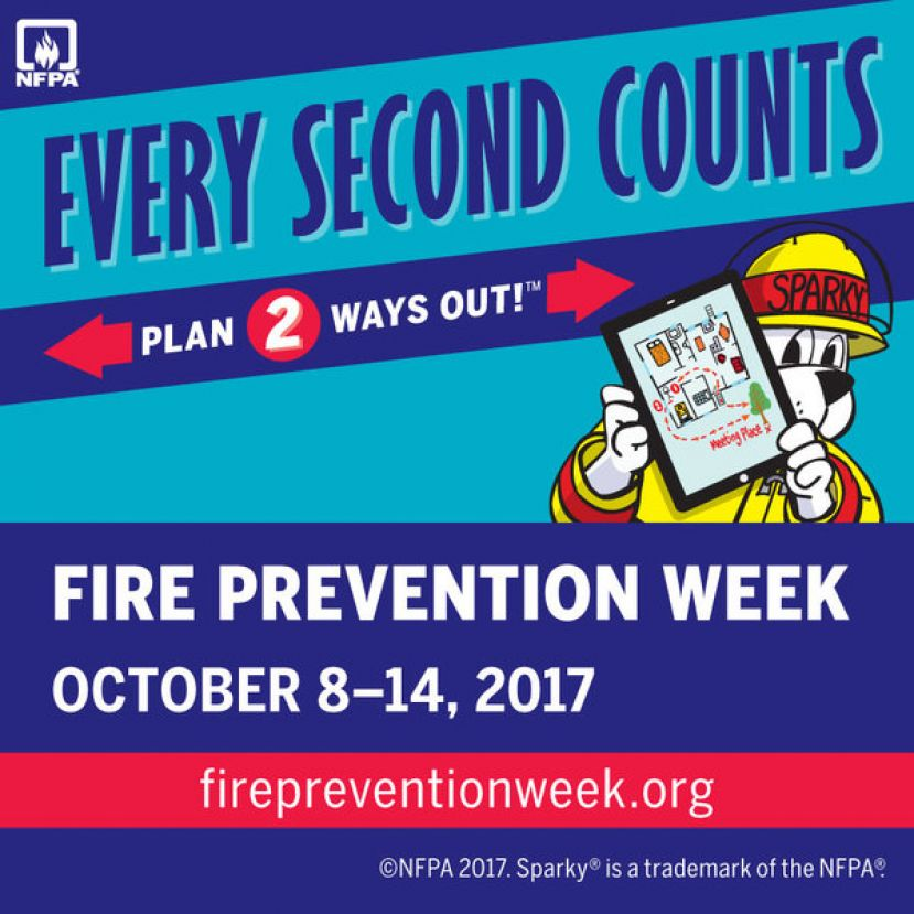 Douglas fire department celebrates fire prevention week, October 8-14