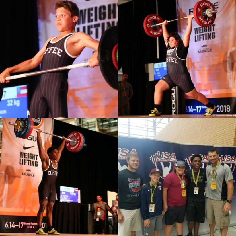 Three Coffee County student-athletes compete in USA Weightlifting Youth National Championships