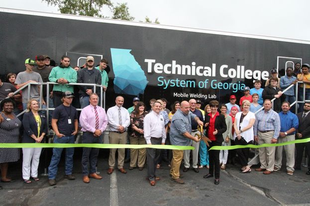 Wiregrass Tech held a ribbon cutting event for the Mobile Welding Lab on the Coffee Campus.