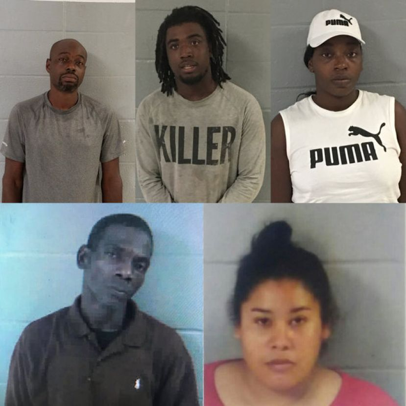 (L-R): Top row: Travis Lee Alexander, Michael Anthony Hart, Tatianna Mariea Wright; Bottom row: Alexander Chandler, Beatriz Canelo-Soto
