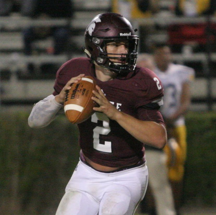 Coffee quarterback Wade Sumner ran for two 33-yard touchdowns and threw for another in the Trojans' 37-14 win over the Valdosta High Wildcats Friday night.