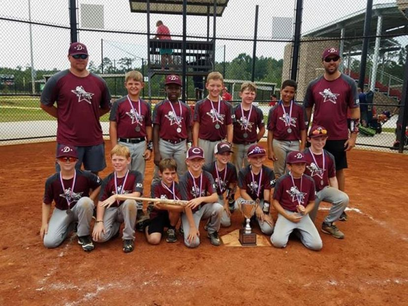The 10U All Stars won district then finished second in the state: Gray McLean, Landon Williams, Jonathan Rutland, Carter McMillan, Brax Carson, Mark Griffin, Ridlee Mobley, Eli Vickers, Brody Hare, Cane Carver, Morgan Lewis, and Wesley Hood. Will McLean served as the team's bat boy.