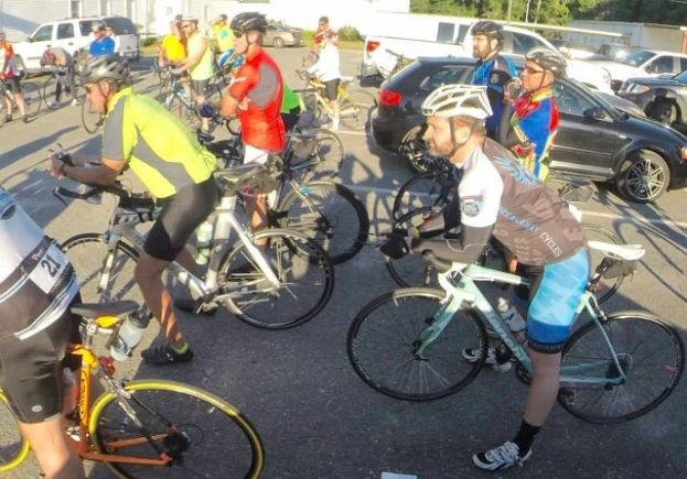 Over fifty cyclists ride to stomp out cancer