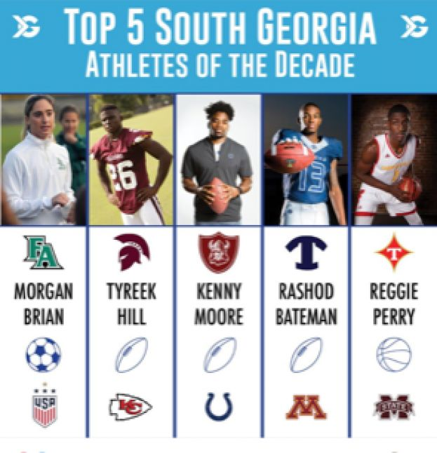 Tyreek Hill: One of South Georgia's athletes of the decade