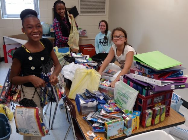 Eastside Elementary thanks local offices for significant school supply donation