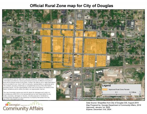 Earn tax incentives in the Douglas Rural Zone