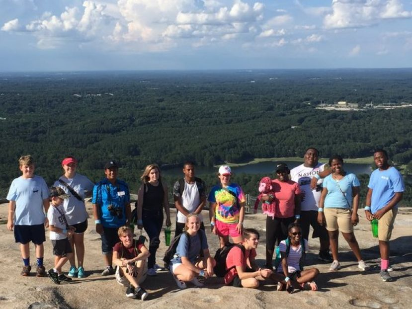 4-H members enjoy the view from atop Stone Mountain during their trip to Atlanta