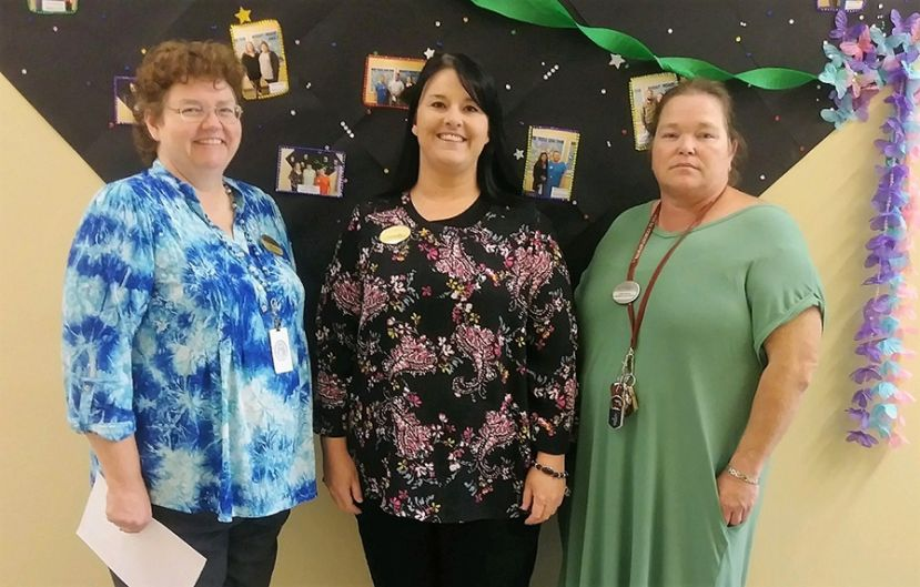 Wiregrass Tech's Coffee County Adult Education instructors are pictured l- r; Renee Elliott, Brianna Gillis, and Krista Spires.