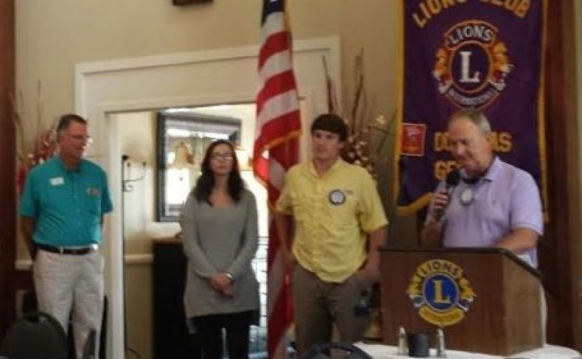 The Douglas Lions Club welcomed new members Jessi Frost, Doug Walker, and Ashley Yaunches this week.