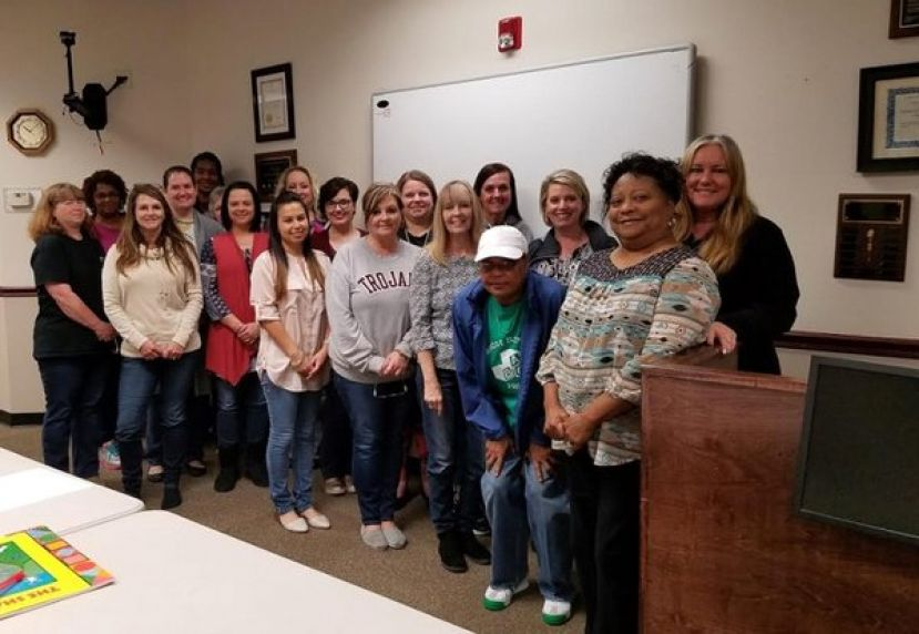 Coffee County Pre-K Educators following their presentations during Professional Learning Training