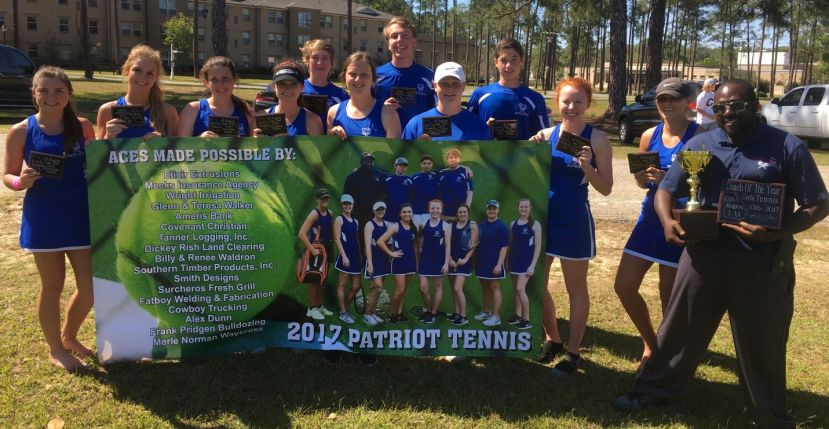 The CCA Patriots tennis team once again had a strong showing at the region tournament. Head coach Murvin Brown was named girls' region Coach of the Year after the Lady Patriots won the region title.