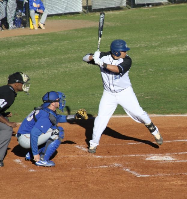 Franco Perdono, a freshman from Fort Lauderdale, Fla., had one hit and two RBIs in the game against TCC.