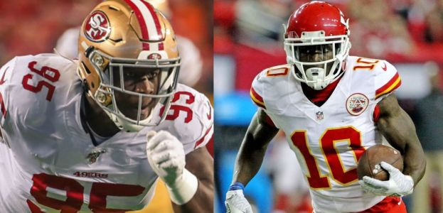 Kentavious Street (left) and Tyreek Hill (right)