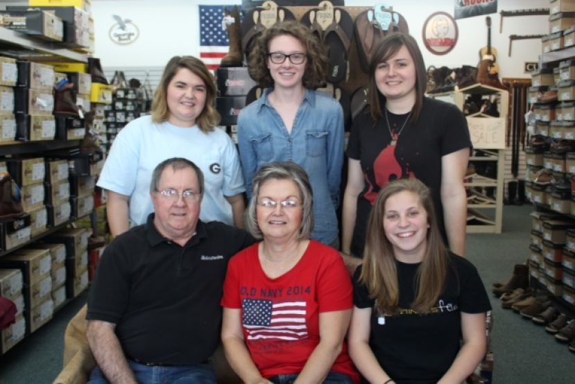 Pictured on the front row from left: John Mathews, Sue Mathews, and Alyssa Price. Pictured on the back row from left: Rebekah Mathews, Danielle Leggett, and Sarah Mathews. Bree and Nellie Whitley are not pictured.