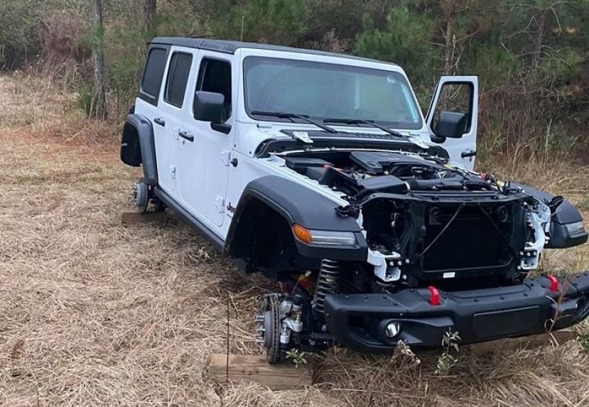 This stolen Jeep was stripped and abandoned in Coffee County Saturday morning. It was reported stolen in Swainsboro.