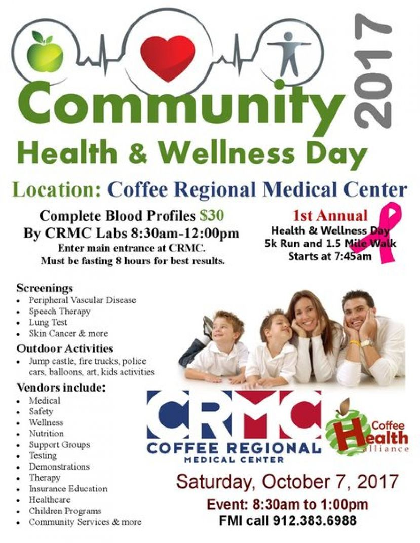 Annual community Health & Wellness Day event, Oct. 7