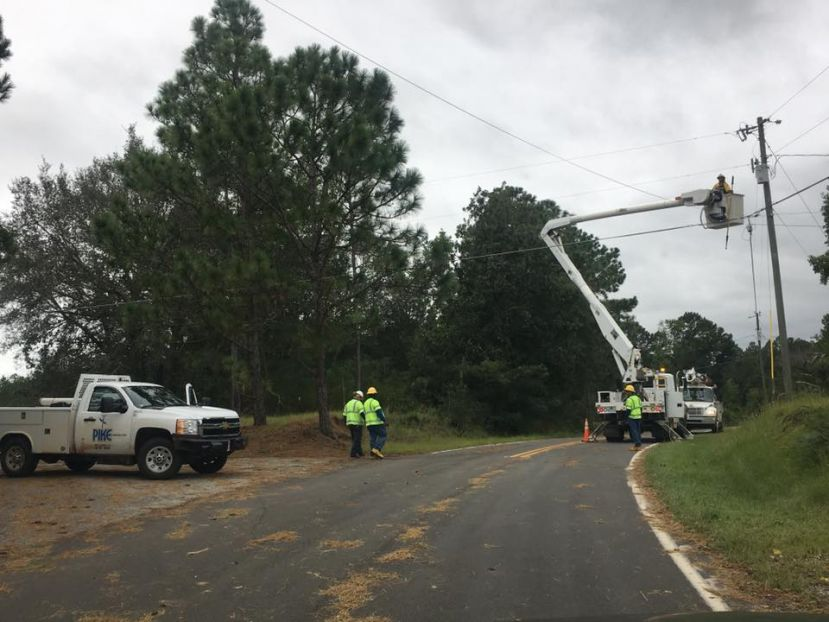 Power crews are continuing to work around the clock to restore electricity to the thousands of citizens who remain in the dark.