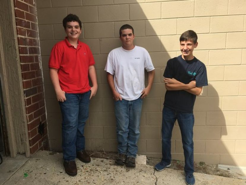 "(L to R) Jaksen Lott, Jake Fletcher and William ""Garrett"" Mancil"