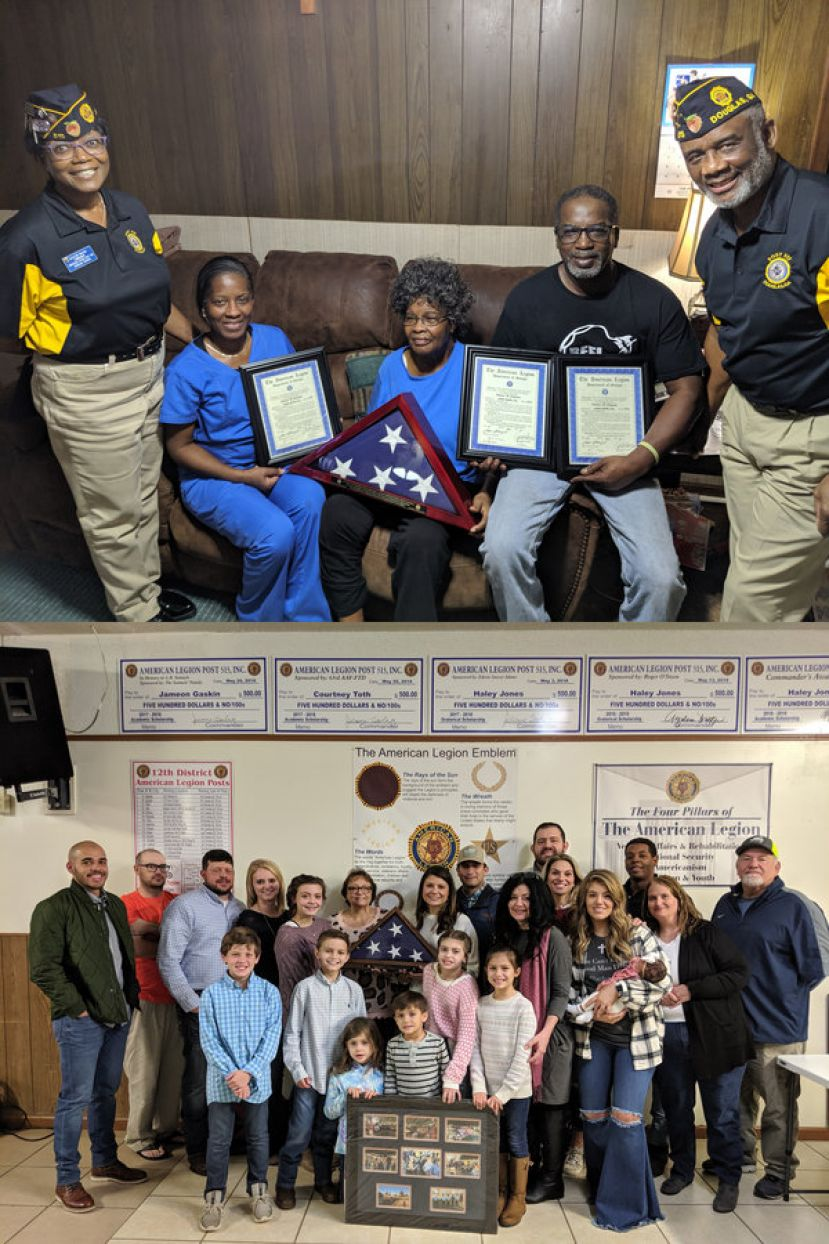 American Legion Post 515 recently honored the families of Thoms Edwards (top) and David Lindsey (bottom).